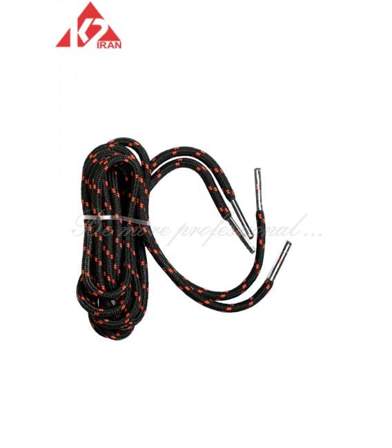 بند کفش مشکی قرمز