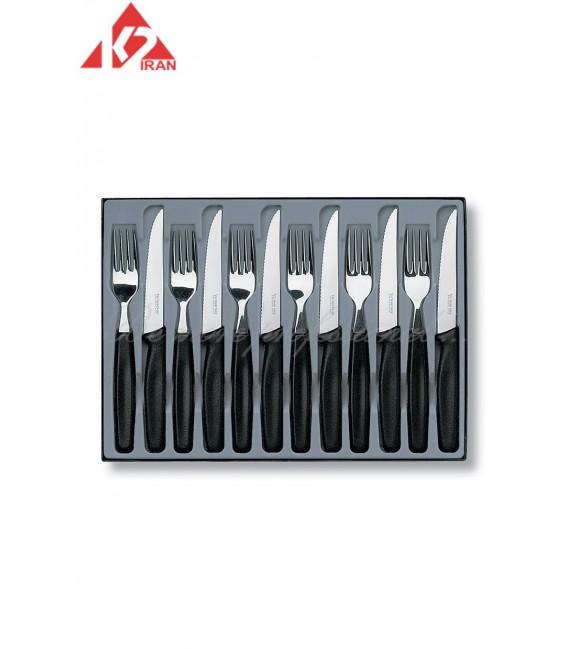 ست دوازده تایی چاقو و چنگال رومیزی