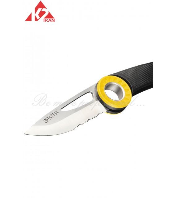 چاقو اسپاتا با محل کاراباینر
